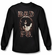 Three Stooges Shirt Bad Moe Fo Funny Adult Black Long Sleeve T-Shirt