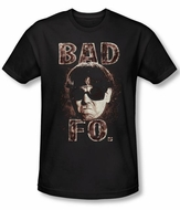 Three Stooges Shirt Bad Moe Fo Funny Adult Black Slim Fit Tee T-Shirt