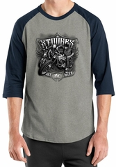 Three Stooges Shirt Bike Week Mens Raglan Tee T-Shirt