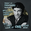 Three Stooges Shirt Drink Adult Charcoal Tee T-Shirt