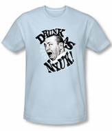 Three Stooges Shirt Drunk Funny Adult Light Blue Slim Fit T-Shirt