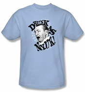 Three Stooges Shirt Drunk Funny Adult Light Blue Tee T-shirt