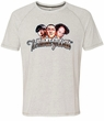 Three Stooges Shirt Funny Faces Mens White Tri Blend Tee T-Shirt