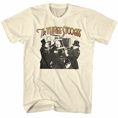 Three Stooges Shirt Head Clamp Cream T-Shirt