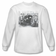 Three Stooges Shirt Hello Long Sleeve White Tee T-Shirt