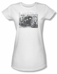 Three Stooges Shirt Juniors Hello White Tee T-Shirt