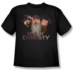 Three Stooges Shirt Kids NYUK Dynasty Youth Black Tee T-Shirt