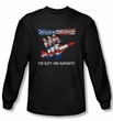Three Stooges Shirt Mission Accomplished Royal Long Sleeve Tee T-Shirt