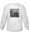 Three Stooges Shirt Never Scared White Long Sleeve Tee T-Shirt