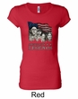 Three Stooges Shirt Rushmorons Ladies Longer Length Tee T-Shirt