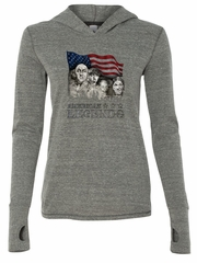 Three Stooges Shirt Rushmorons Ladies Tri Blend Hoodie Tee T-Shirt