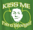 Three Stooges T-shirt Curly Kiss Me Irish Shamrock Adult Tee Shirt