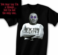Three Stooges T-shirt Curly New York City NYC Adult Black Tee Shirt