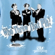 Three Stooges T-shirt Who Threw That Pie Adult Funny Blue Tee Shirt