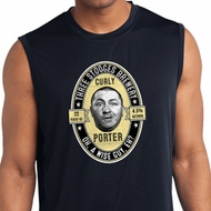 Three Stooges Tee Curly Porter Dry Wicking Sleeveless Shirt