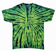 Tie Dye Kids Shirt Wild Spider Green Youth Tee Shirt