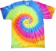 Tie Dye Kids T-shirt Eternity Colorful Vintage Groovy Youth Tee Shirt