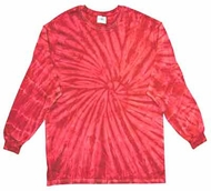 Tie Dye Long Sleeve Shirt Spider Red Tee Shirt