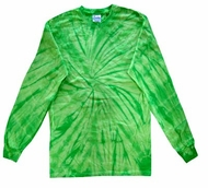 Tie Dye Shirt Spider Lime Long Sleeve Tee