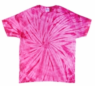 Tie Dye Spider Pink Retro Vintage Groovy Youth Kids T-Shirt Tee Shirt