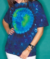 Tie Dye T-shirt Earth Adult Unisex Tee
