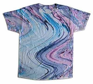 Tie Dye T-shirt Marble 10 Retro Vintage Purple Blue Adult Tee Shirt