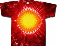 Tie Dye T-shirt - Red Hot Sun Adult Tee
