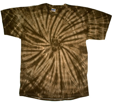 tie dye t shirt spider brown retro vintage groovy adult