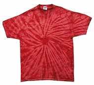 Tie Dye T-shirt Spider Red Retro Vintage Groovy Adult Tee Shirt