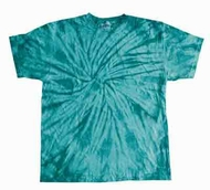 Tie Dye T-shirt Spider Turquoise Retro Vintage Groovy Adult Tee Shirt
