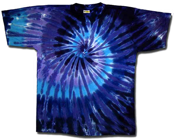 Tie dye t shirt twilight spiral adult tee tie dye t shirts for Types of tie dye shirts