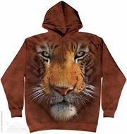 Tiger Face Hoodie Tie Dye Adult Hooded Sweat Shirt Hoody