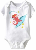 To Da Mooooon Funny Baby Romper White Infant Babies Creeper