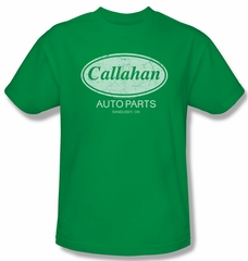 Tommy Boy Shirt Callahan Auto Adult Kelly Green Tee T-Shirt