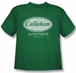 Tommy Boy Shirt Kids Callahan Auto Kelly Green Youth Tee T-Shirt
