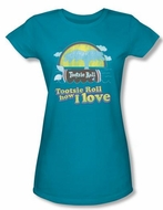 Tootsie Roll Juniors T-Shirts - Jingle Turquoise Tee