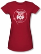 Tootsie Roll Juniors T-Shirts - Pop Logo Red Tee