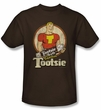 Tootsie Roll T-Shirts - Captain Tootsie Adult Coffee Tee