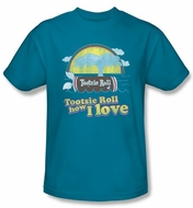 Tootsie Roll T-Shirts � Jingle Adult Turquoise Tee