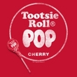 Tootsie Roll T-Shirts - Pop Logo Adult Red Tee shirt