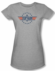 Top Gun Shirt Juniors Star Logo Athletic Heather Tee T-Shirt