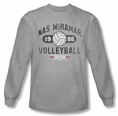 Top Gun Shirt Nas Miramar Volleyball Long Sleeve Grey Tee T-Shirt