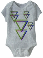 Tri Harder Funny Baby Romper Grey Infant Babies Creeper