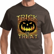 Trick or Treat Candle Skull Mens Halloween Shirts