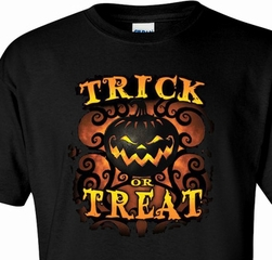Trick or Treat Halloween Adult Tee Shirt
