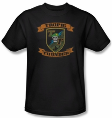Tropic Thunder Shirt Patch Adult Black Tee T-Shirt