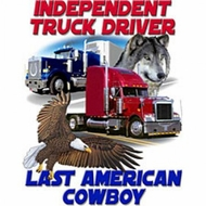 Trucker Shirt - Independant Last American Cowboy Tee Shirt