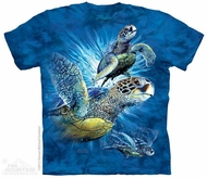 Turtles Shirt Tie Dye Adult T-Shirt Tee