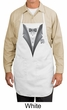 Tuxedo Apron with White Flower Adult Full Length Apron