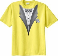 Tuxedo T-shirt With White Flower - Yellow